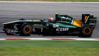 Caterham T128 Formula 1 car on race track