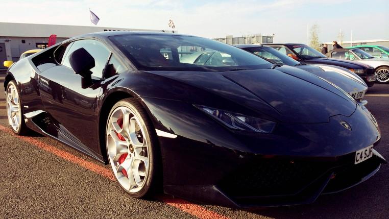 Black Lamborghini Huracán at Pistonheads Sunday Service