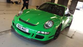 Green 997 Porsche 911 GT3 RS